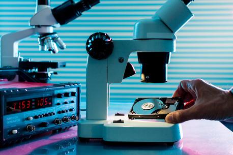 recuperación de datos microscopio disco duro